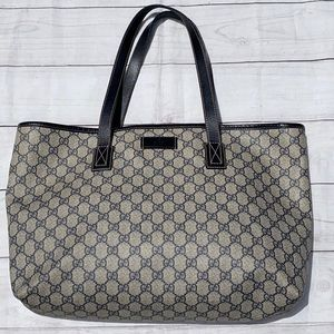 GUCCI GG Supreme Neverfull Large Tote